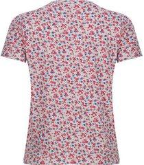 camiseta estampada floral color blanco, talla m