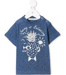raspberry plum pineapple t-shirt - blue