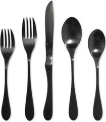 knork 18/0 titanium coated matte black 5-pc. place setting