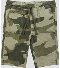 shorts i bomull - grön