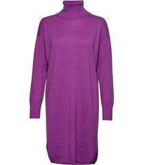 ladies dress, villis gebreide jurk paars nanso
