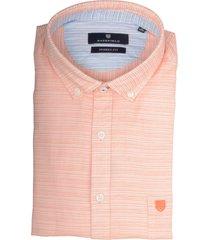 basefield overhemd oranje met structuur 219015018/405