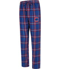 concepts sport men's chicago cubs hillstone flannel pajama pants
