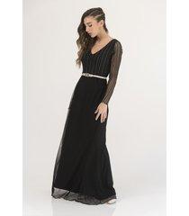 vestido negro florencia casarsa adele