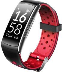 banda inteligente ip68 podómetro pulsera intelige-rojo