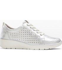 sneaker comode larghezza h jana (argento) - jana