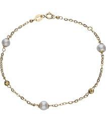 bracciale in oro bianco e perle per donna