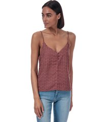 only womens diana tile print cami top size 10 in brown