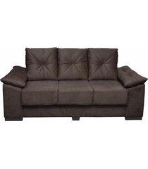 conjunto de sofá san marino 3 e 2 lugares tecido suede amassado café - moveis marfim
