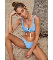 heidi klein cairns lace up bikini