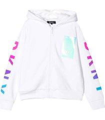 dkny white sweatshirt with hood