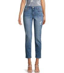 joe's jeans women's distressed slim boyfriend jeans - oshawa - size 29 (6-8)