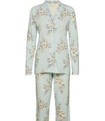pyjama long pyjamas grön schiesser