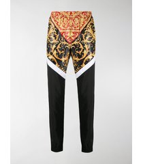 versace panelled baroque print track pants