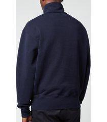 ami men's de coeur high collar sweatshirt - navy - xxl