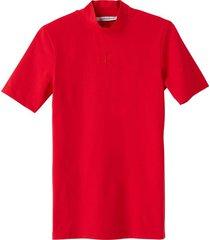 camiseta slim con cuello perkins rojo calvin klein
