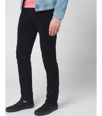 nudie jeans men's lean dean straight jeans - black cord - w32/l32