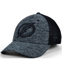 authentic nhl headwear tampa bay lightning 2020 tnt black ice mesh flex cap