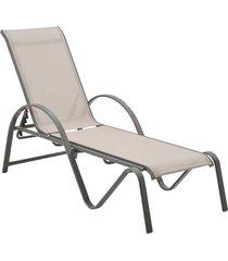 chaise buzios amêndoa tela bege rivatti móveis - tricae