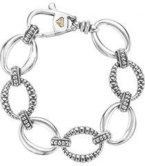 lagos 'link' sterling silver oval link bracelet, size medium at nordstrom