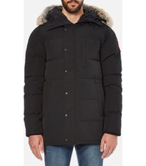 canada goose men's carson parka jacket - black - xl - black