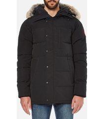 canada goose men's carson parka jacket - black - xl - black