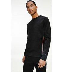 tommy hilfiger men's recycled cool sweatshirt jet black - xl
