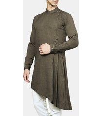 mens mid-long indian arab muslim middle east abito robe sottile camicetta t-shirt kaftan