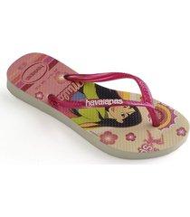 sandalias  havaianas kids slim princess 4123328 femenino