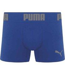 cueca puma boxer sem costura - azul - masculino