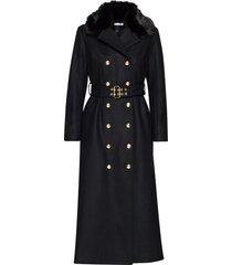jules coat wollen jas lange jas zwart ida sjöstedt
