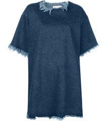 marques'almeida oversized t-shirt dress - blue