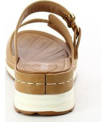 sandalias para mujer marca via spring color café via spring - marrón