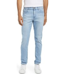mott & bow hubert skinny fit stretch jeans, size 34 x 32 in light blue at nordstrom