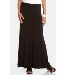 women's karen kane flared maxi skirt, size large - black