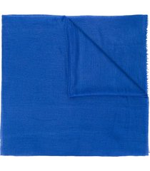 allude frayed scarf - blue