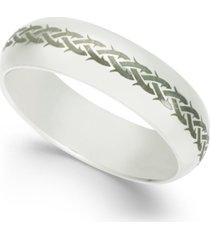 men's engraved cobalt ring