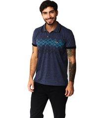 camiseta tipo polo-puntazul-azul petroleo-41438