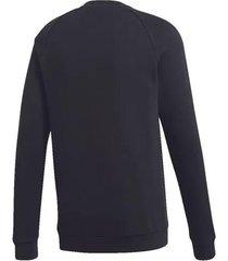 buzo negro adidas originals trifolio warm-up crew hombre