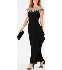 msk floral applique gown