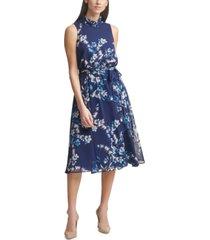 harper rose floral-print chiffon midi dress