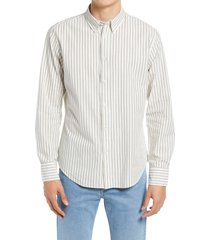 men's rag & bone fit 2 tomlin solid short sleeve button-up camp shirt, size x-small - ivory