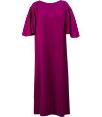 alberta ferretti pink boat neck shift dress