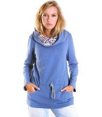 bluza fio wiązana-niebieski