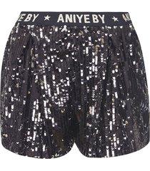 aniye by sequin-coated logo waist shorts