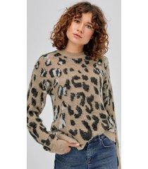 tröja alba, leopardmönstrad