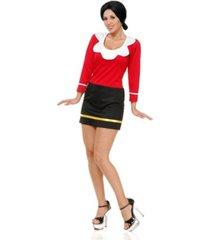 buyseasons women's olive oyl mini dress adult costume