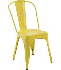 conjunto 06 cadeiras iron amarela rivatti - amarelo - dafiti