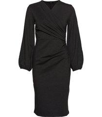 milou dress jurk knielengte zwart residus