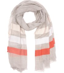 'mojito' stripe-ended scarf